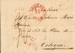 1830 TOURNAY Bf Mit Inhalt Nach Cologne An Johann Marie Farina - Marcofilia (sobres)