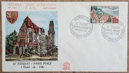 FDC 1962 - YT N°1355 - LE TOUQUET PARIS PLAGE - FDC