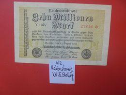 Reichsbanknote 10 MILLIONEN MARK 1923 5 CHIFFRES CIRCULER (B.16) - [ 3] 1918-1933: Weimarrepubliek