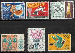 Qatar 1968 Olympische Sommerspiele Mexiko  Complete Set Used - Qatar