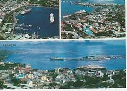 20 / 7 / 102  -  PAPEETE. -  CPM. 3. VUES - Polynésie Française