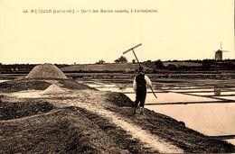 Mesquer Quimiac * Dans Les Marais Salants , à Kercabellec * Paludier Sel * Moulin à Vent Molen - Mesquer Quimiac