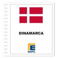 S3- DANMARK DENMARK 2019 EDIFIL PRINT COLOUR SUPLEMENT WHITE SHEET YEAR NO STAMPS - Album & Raccoglitori