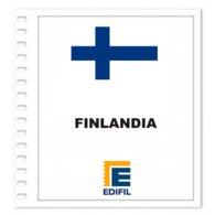S4- FINLAND SOUMI 2019 EDIFIL PRINT COLOUR SUPLEMENT WHITE SHEET YEAR NO STAMPS - Album & Raccoglitori