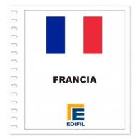 S5- FRANCE FRANCIA 2019 EDIFIL PRINT COLOUR SUPLEMENT WHITE SHEET YEAR NO STAMPS - Album & Raccoglitori