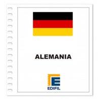 S6- GERMANY ALEMANIA 2019 EDIFIL PRINT COLOUR SUPLEMENT WHITE SHEET YEAR NO STAMPS - Album & Raccoglitori