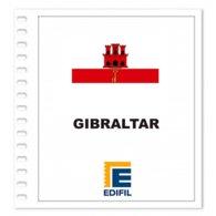S7- GIBRALTAR UK 2019 EDIFIL PRINT COLOUR SUPLEMENT WHITE SHEET YEAR NO STAMPS - Album & Raccoglitori