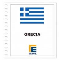 S8- GREECE GRECIA 2019 EDIFIL PRINT COLOUR SUPLEMENT WHITE SHEET YEAR NO STAMPS - Album & Raccoglitori