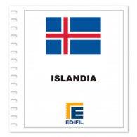 S10- ISLAND ISLANDIA 2019 EDIFIL PRINT COLOUR SUPLEMENT WHITE SHEET YEAR NO STAMPS - Album & Raccoglitori