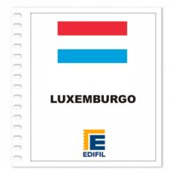 S11- LUXEMBURG 2019 EDIFIL PRINT COLOUR SUPLEMENT WHITE SHEET YEAR NO STAMPS - Album & Raccoglitori