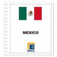 S12- MEXICO 2019 EDIFIL PRINT COLOUR SUPLEMENT WHITE SHEET YEAR NO STAMPS - Album & Raccoglitori