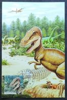 Carte Maximm - Dinosaure, Tyrannosaure, Animal Pàréhistorique, Corée Du Nord (dinosaurs, Tyrannosaurus - DPR Korea) - Prehistorics