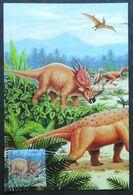 Carte Maximm - Dinosaure, Styracosaurus, Animal Pàréhistorique, Corée Du Nord (dinosaurs, Styracosaurus - DPR Korea) - Prehistorics