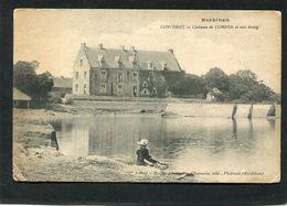 CPA - CONCORET - Le Château De COMPER Et Son étang, Animé - Lavandière - Autres Communes