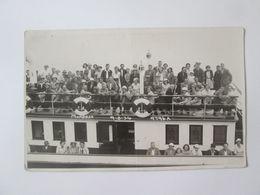 Postcard Photo 137 X 87 Mm With Steamship From The 20s - Passagiersschepen