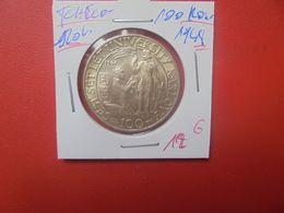TCHECOSLOVAQUIE 100 KORUN 1948 ARGENT (A.11) - Checoslovaquia
