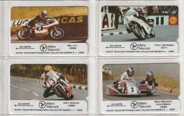 Île De Man - Collector Séries - MOTOS =   4  Cartes,   Manx Télécom ( Cartes Neuves ) - Motorbikes