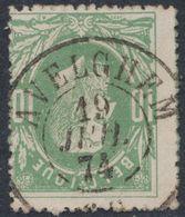 """émission 1869 - N°30 Obl Double Cercle """"Avelghem"""" (1874). TB / Collection Spécialisée - 1869-1883 Leopold II"""