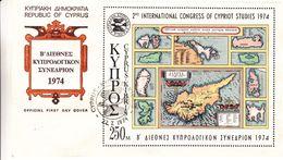Chypre - Lettre FDC De 1974 - Oblit Cyprus - Valeur 4 Euros - Covers & Documents
