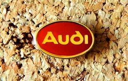 Pin's AUDI Logo Rouge Verni époxy Fabricant Inconnu - Audi