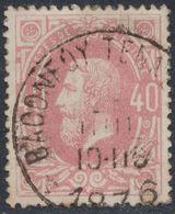 """émission 1869 - N°34 Obl Double Cercle (DU)  """"Baconfoy-Tenneville"""". COBA : 15 / Collection Spécialisée - 1869-1883 Leopold II"""