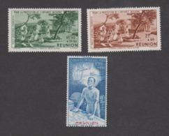 Colonies Françaises -Timbres Neufs ** Réunion - PA N°7 à 9 - Réunion (1852-1975)