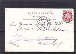 Belgique - Carte Postale De 1900 - Oblit Ostende - Exp Vers Amerang - Réexpédié Vers Prien - Vue Casino D'Ostende - 1893-1900 Thin Beard