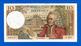 10  Fr  Du  7 / 8 /1969 - 1962-1997 ''Francs''