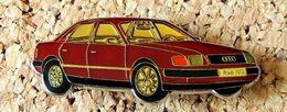 Pin's AUDI 100 Rouge Verni époxy Fabricant Inconnu - Audi
