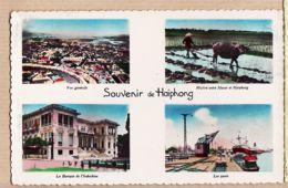 As157 Indochine Viet-Nam Souvenir HAÏPHONG Quais Port Banque Riziere Vue Générale 1953 Cliché Éditions P.C.Paris  62 - Vietnam