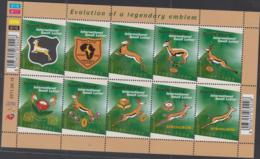 SOUTH AFRICA- 2011 - RUGBY SHEETLET OF 10 MINT NEVER HINGED - Neufs