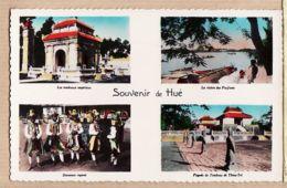 As161 Indochine Viet-Nam Souvenir HUE Tombeaux Impériaux Danseurs Royaux Pagode Tombeau THIEU-TRI 1950s P.C.Paris 6 - Vietnam