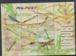 INSECTS - PHILIPPINES - 2015- DRAGONFLIES SHEETLET OF 9  MINT NEVER HINGED - Insectes