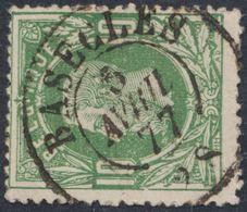 """émission 1869 - N°30 Obl Double Cercle """"Basècles"""" (1877). TB / Collection Spécialisée - 1869-1883 Leopold II."""