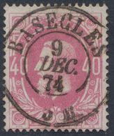 """émission 1869 - N°34 Obl Double Cercle """"Basècles"""" (1874). Luxe ! / Collection Spécialisée - 1869-1883 Leopold II."""