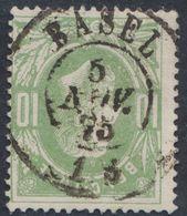 """émission 1869 - N°30 Obl Double Cercle """"Basel"""" (1875). Belle Frappe, COBA : 15 / Collection Spécialisée - 1869-1883 Leopold II"""