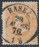 """émission 1869 - N°33 Obl Double Cercle """"Basel"""" (1876). TB  COBA : 15 / Collection Spécialisée - 1869-1883 Leopold II"""