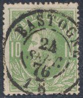 """émission 1869 - N°30 Obl Double Cercle """"Bastogne"""" (1876) / Collection Spécialisée - 1869-1883 Leopold II."""