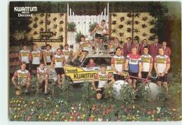 Equipe KWANTUM DECOSOL 1985. 2 Scans. Cyclisme. Kwantum Decosol 1985 - Radsport