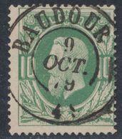 """émission 1869 - N°30 Obl Double Cercle """"Baudour"""" (1879). Superbe ! / Collection Spécialisée - 1869-1883 Leopold II."""