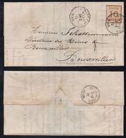 STRASBOURG - ALSACE / 1871 # 5 BURELAGE RENVERSE SUR LAC POUR BOUXWILLER / COTE 140.00 EUROS A 25% DE LA COTE (ref 3011) - Alsace-Lorraine