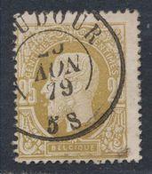 """émission 1869 - N°32 Obl Double Cercle """"Baudour"""" (1879) / Collection Spécialisée - 1869-1883 Leopold II"""