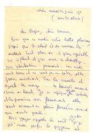 Lettre Manuscrite Voisin Papa Maman Famille Corse Boulogne Velezy M Paesolu Pinarello Bardy - Manuscrits