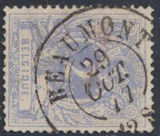 """émission 1869 - N°27 Obl Double Cercle """"Beaumont"""" (1877). / Collection Spécialisée - 1869-1883 Leopold II"""