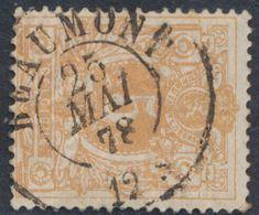 """émission 1869 - N°28 Obl Double Cercle """"Beaumont"""" (1878). / Collection Spécialisée - 1869-1883 Leopold II"""