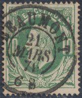 """émission 1869 - N°30 Obl Double Cercle """"Beaumont"""". TB / Collection Spécialisée - 1869-1883 Leopold II."""