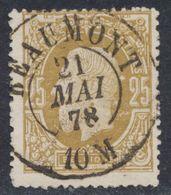 """émission 1869 - N°32 Obl Double Cercle """"Beaumont"""" (1878). TB / Collection Spécialisée - 1869-1883 Leopold II."""