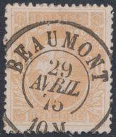 """émission 1869 - N°33 Obl Double Cercle """"Beaumont"""" (1878). Luxe / Collection Spécialisée - 1869-1883 Leopold II."""