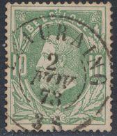 """émission 1869 - N°30 Obl Double Cercle """"Beauraing"""" (1873) / Collection Spécialisée - 1869-1883 Leopold II"""
