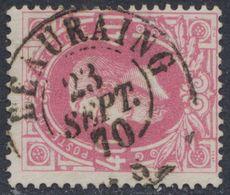 """émission 1869 - N°34 Obl Double Cercle """"Beauraing"""" (1870). TB / Collection Spécialisée - 1869-1883 Leopold II"""